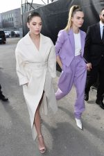 Ashley Benson & Cara Delevingne  Arriving  @ Boss Fall/Winter 2020/2021 Show In Milan