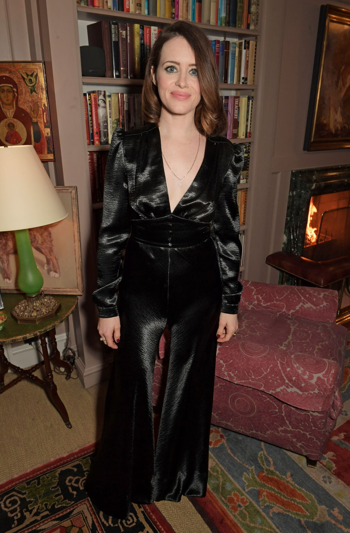 claire-foy-in-philosophy-di-lorenzo-serafini-charles-finch-chanel-pre-bafta-party-in-london