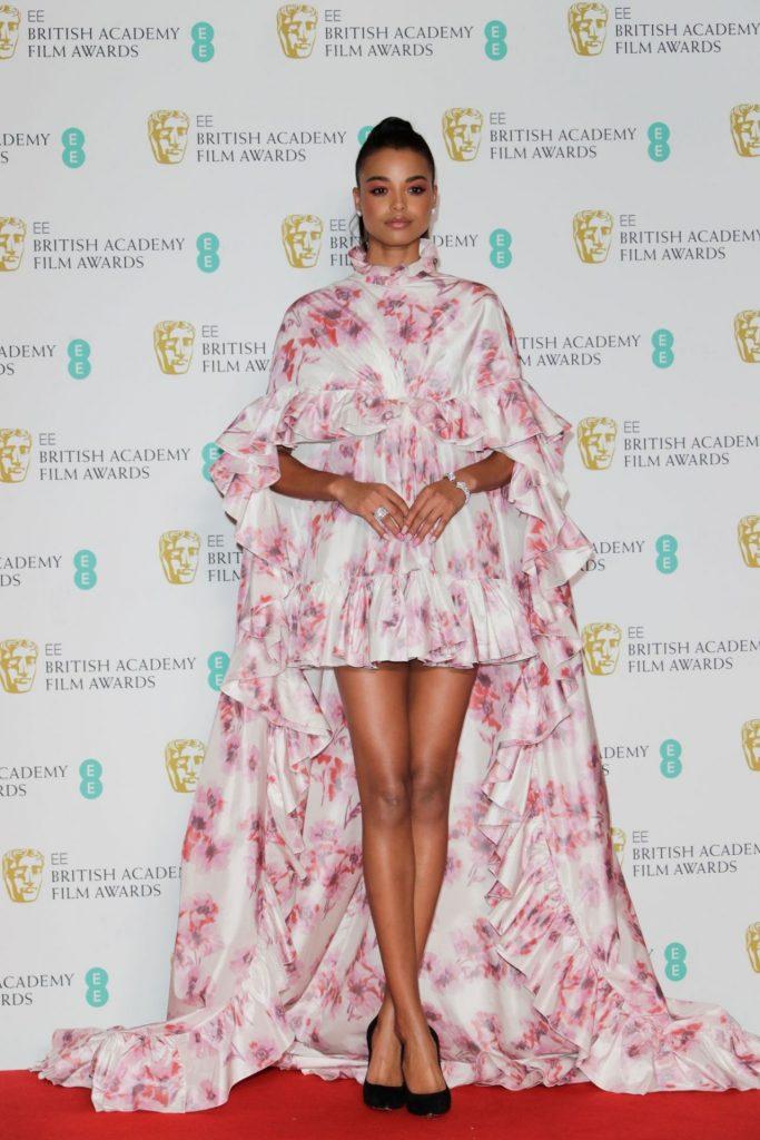 Ella Balinska In Giambattista Valli Couture 2020 Ee British Academy Film Awards Fashionsizzle