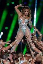 Jennifer Lopez In Custom  Versace Performs During The Super Bowl 2020 Halftime Show