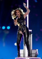 Jennifer Lopez In Versace  Performs During the Super Bowl 2020 Halftime Show