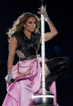 Jennifer Lopez In Custom  Versace   Performs During the Super Bowl LIV Halftime Show