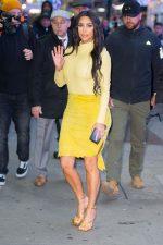 Kim Kardashian In Vintage Cavalli Skirt @ Good Morning America in New York