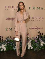 "Leona Lewis  In Cut-Out  BlazerSuit @  ""Emma"" LA Premiere"