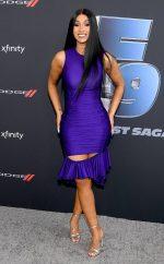 """Cardi B In  Mugler  @ """"The Road To F9"""" Global Fan Extravaganza In Miami"""