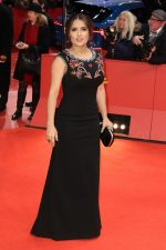 Salma Hayek In  Gucci @  'The Roads Not Taken' Berlinale Film Festival Premiere