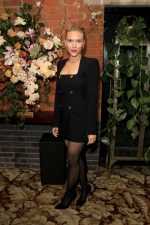 Scarlett Johansson In Versace @ The British Vogue BAFTA After Party