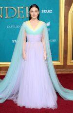 Sophie Skelton In Georges Hobeika Couture @  'Outlander' Season 5 Premiere