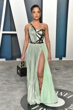 Tessa Thompson In Atelier Versace @   2020 Vanity Fair Oscar Party