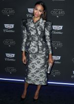 Zoe Saldana  In  Brock Collection  @ Cadillac Celebrates the 92nd Annual Academy Awards