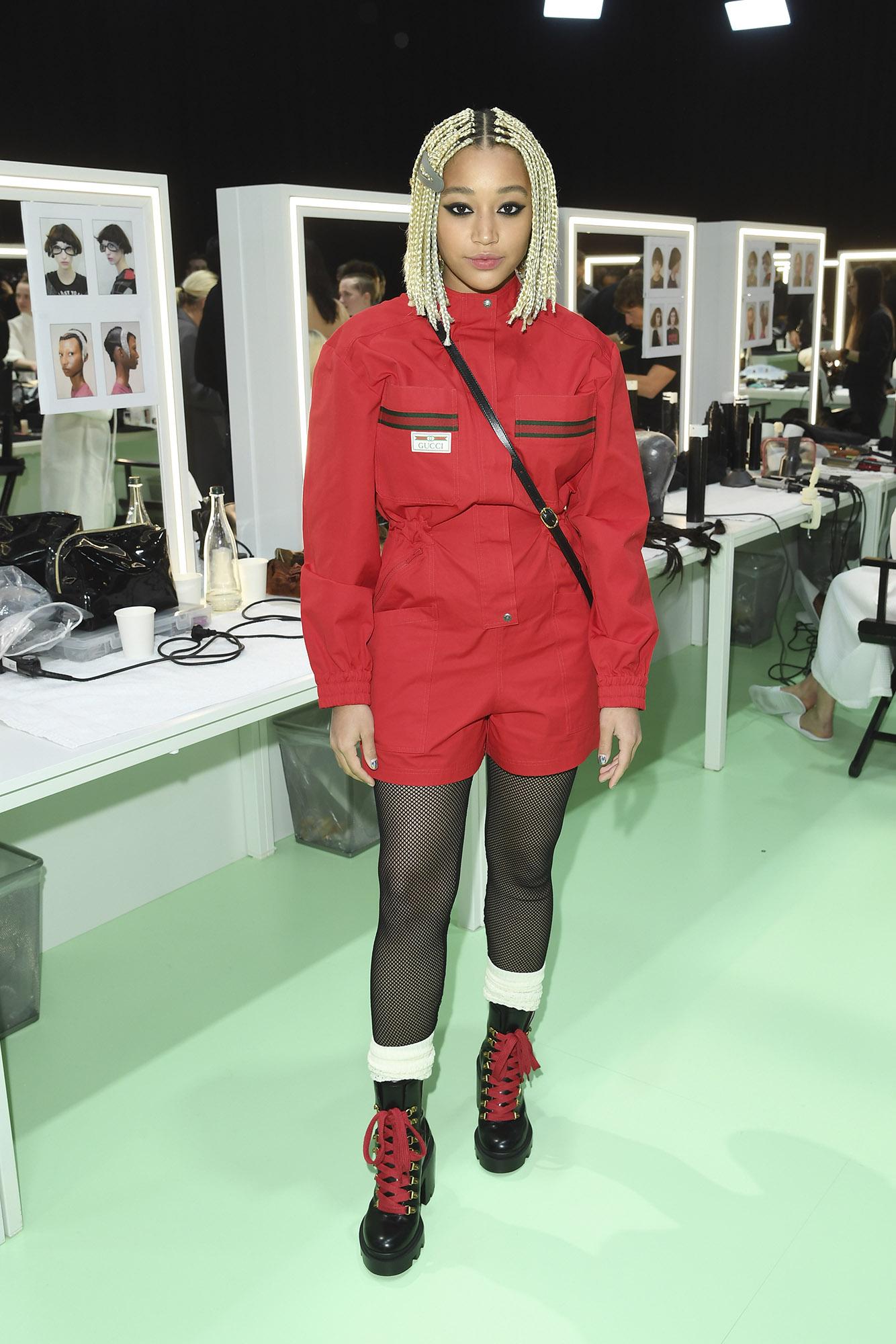 amandla-stenberg-backstage-gucci-milan-fashion-week-fall-winter-show