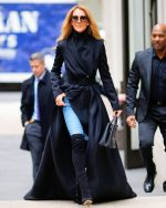 Celine Dion In  Brandon Maxwell Out In New York City