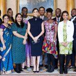 Meghan, Duchess of Sussex  In Scanlan Theodore @ Buckingham Palace Commonwealth Meeting