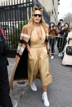 Rita Ora  Leaving the Miu Miu Fall 2020 in Paris