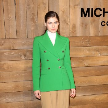 alexandra-daddario-front-row-michael-kors-collection-fall-2020