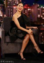 Eiza González In  Carolina Herrera @ Jimmy Kimmel Live