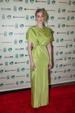Elizabeth Debicki In  Prada @  'The Burnt Orange Heresy' Miami Film Festival Screening