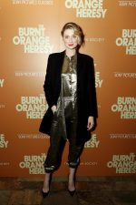 Elizabeth Debicki In  Saint Laurent @ 'The Burnt Orange Heresy' New York Screening
