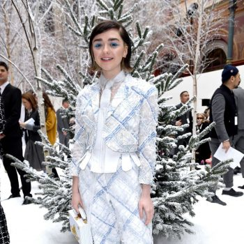 maisie-williams-front-row-thom-browne-show-at-paris-fashion-week