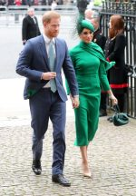 Meghan, Duchess of Sussex In Emilia Wickstead  @ Commonwealth Day Service 2020