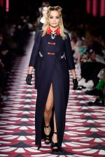Rita Ora Walks Runway @ Miu Miu Fall 2020 In Paris