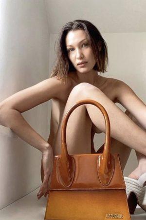 bella-hadid-poses-with-jacquemus-purse-for-quarantine-fashion-campaign