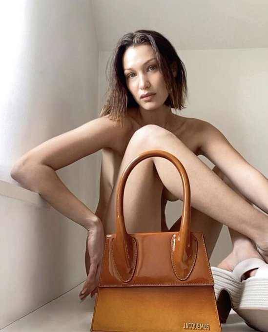 bella-hadid-poses-with-jacquemus-purse-for-quarantine-fashion-campaign