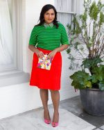 Mindy Kaling  In  Tory Burch &  A.L.C. @ Instagram Pic