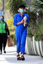 Diane Kruger Rocks Jumpsuit  & Face Mask  – Out in LA