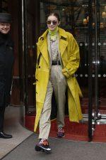 Gigi Hadid  In Berluti  Leaving Her Hotel in Paris