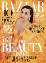 Demi Lovato  In Valentino Gown  Covers Harper's BAZAAR  May issue