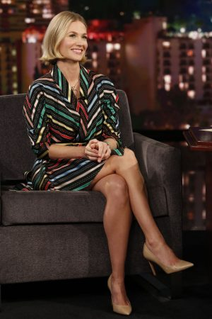 january-jones-in-printed-dress-jimmy-kimmel-live