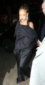 Rihanna  In  Fenty   @ British Vogue and Tiffany & Co. Celebrate Fashion & Film Party