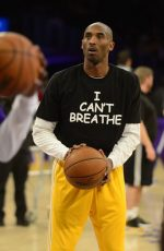 "Vanessa Bryant Posted Photo Of  Kobe Bryant, Wearing an ""I Can't Breathe"" Shirt"