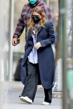 Ashley Olsen In  The Row Panois Coat – Outside of Her Office in New York 05/13/2020