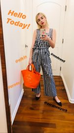 Emma Roberts In Madewell Jumpsuit  05/08/2020