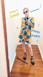 Emma Roberts  In Asos Dress Quarantine Style