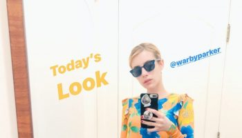 emma-roberts-in-asos-dress-quarantine-style