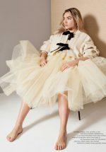 Florence Pugh  In   Molly  Goddard @   ELLE Magazine UK June 2020 Issue