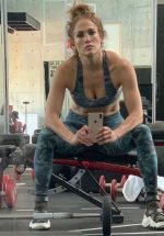 Jennifer Lopez  Work Out Outfit  On May 15, 2020