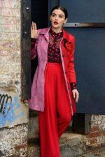"Lucy Hale  In Oscar de la Renta @ ""Katy Keene"" Set in Queens"