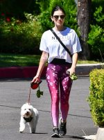Lucy Hale  Walking Her Dog Los Angeles June 7, 2020