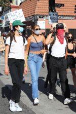 Kaia Gerber Attends Black Lives Matter Protest In La