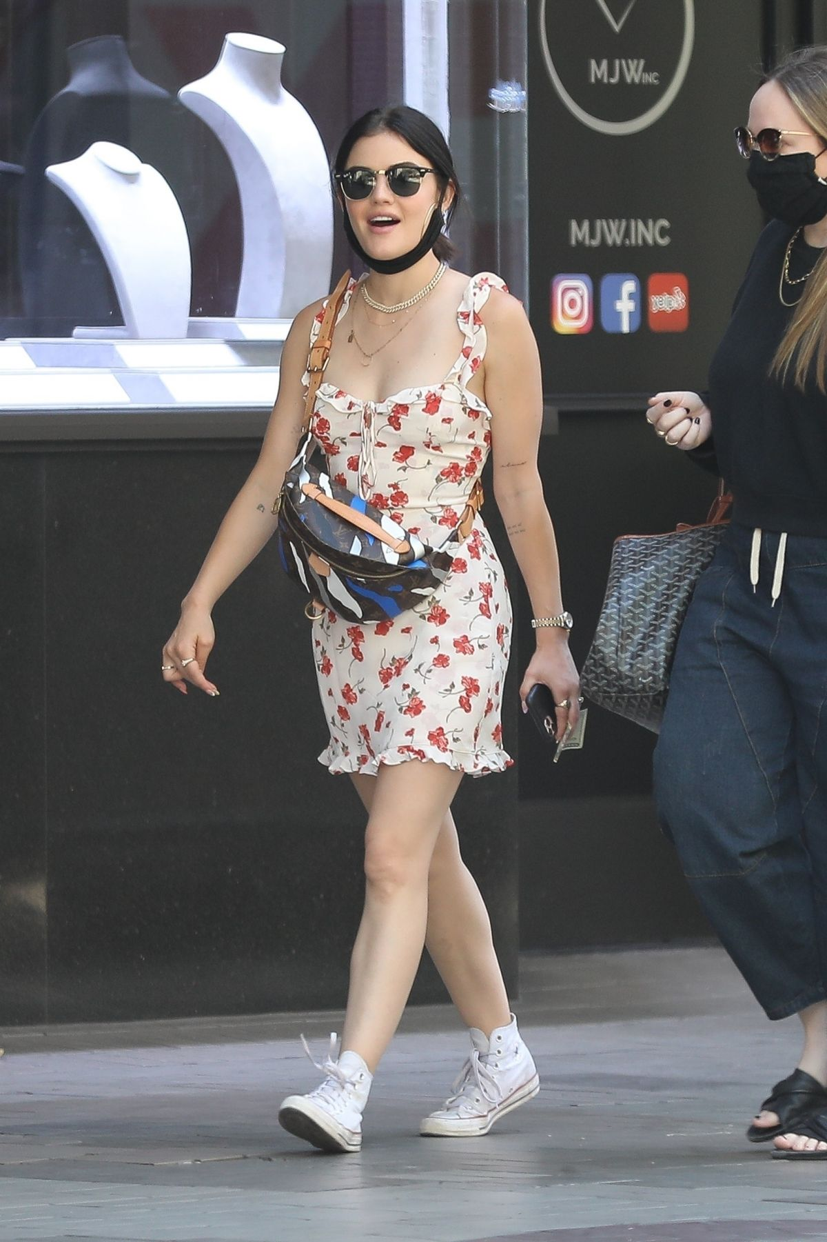 lucy-hale-wearing-reformatiion-dress-los-angeles-june-10-2020