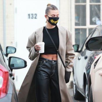 hailey-bieber-in-loewe-leather-pants-june-28-2020