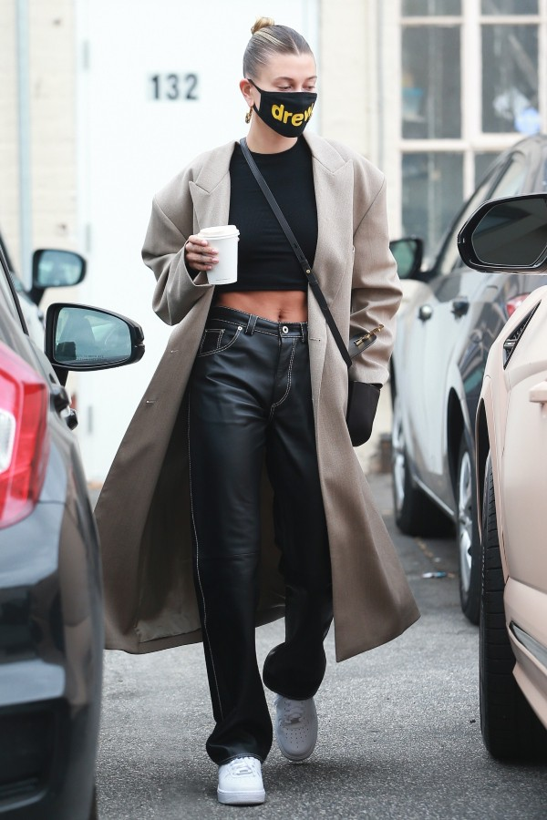 hailey-bieber-in-loewe-leather-pants-june-28-2020