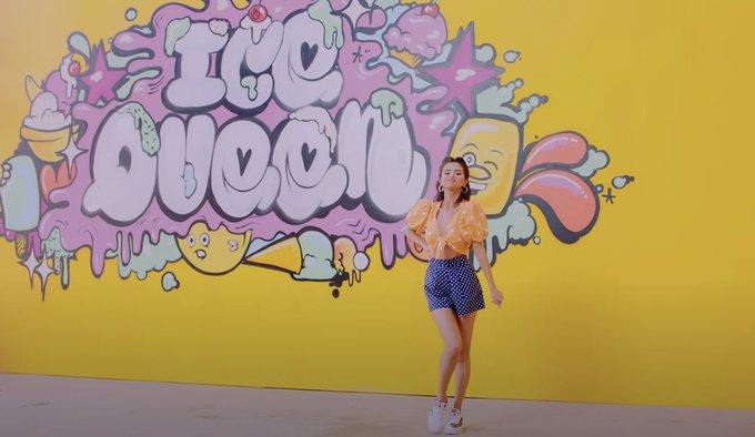 selena-gomez-rocks-polka-dots-ice-cream-music-video-august-27-2020