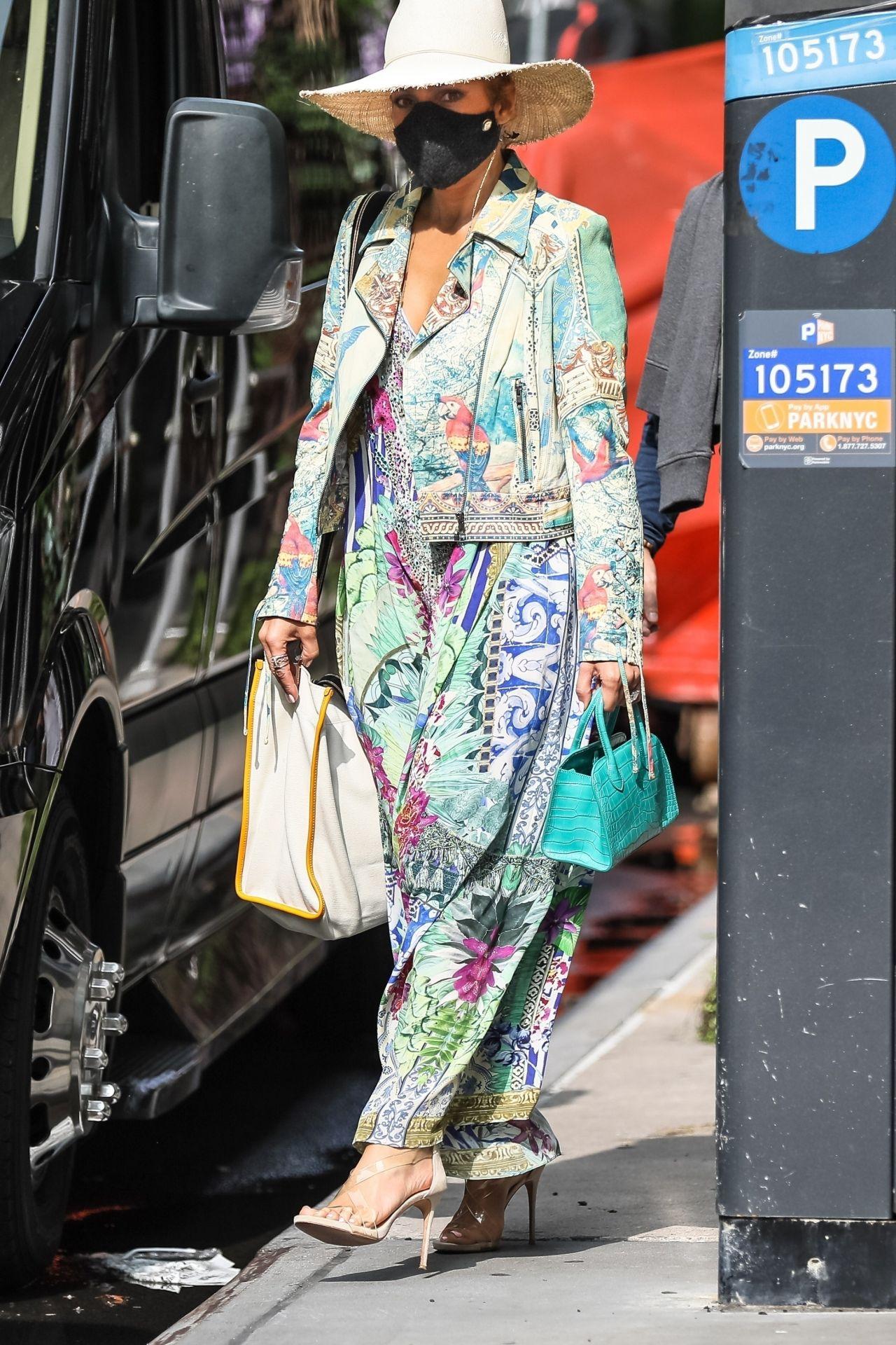 jennifer-lopez-in-floral-motorcycle-jacket-floral-maxi-dress