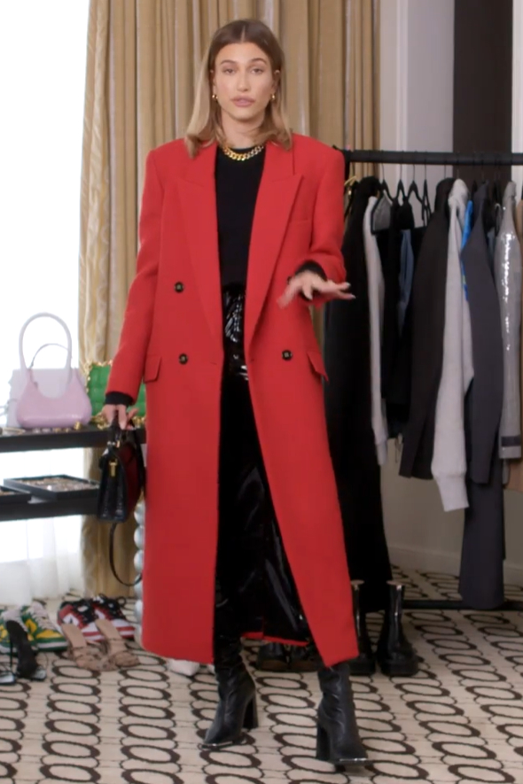 hailey-bieber-in-saint-laurent-coat-vogues-7-days-7-looks