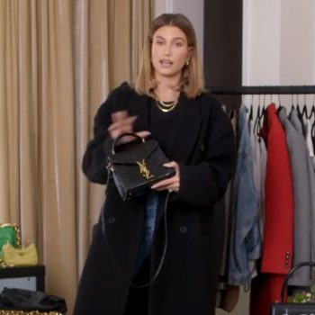 hailey-bieber-wearing-raey-wool-long-coat-for-vogues-7-days-7-looks